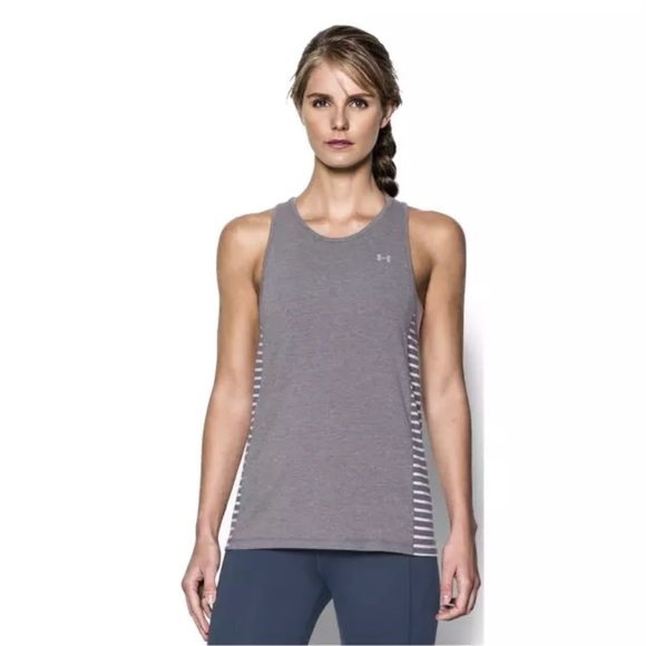 The Hottest Styles Under Armour Favorite Tank Carbon Heather/White For Women